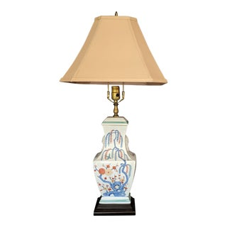 Japanese Porcelain Pagoda Table Lamp For Sale