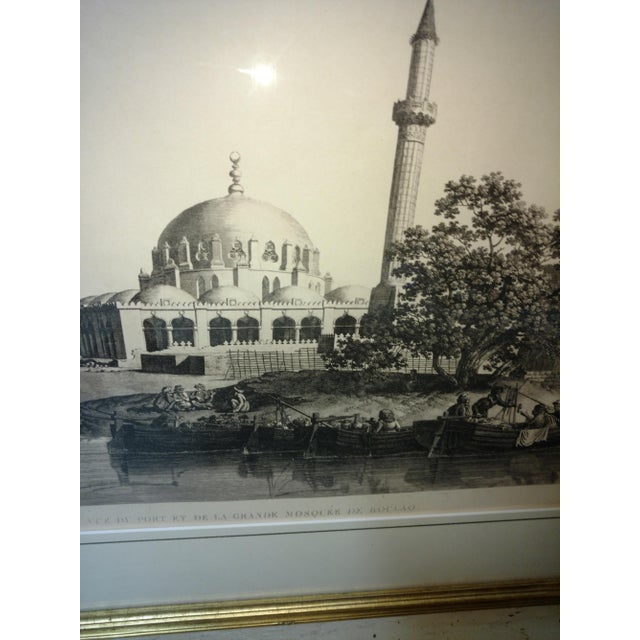 """Late 19th Century Antique Paris """"Egyptian Mosque"""" Engraving Print For Sale - Image 5 of 13"""