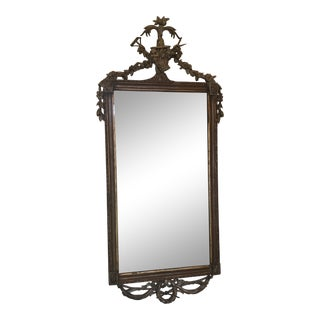 Antique French Gilt Wood Mirror For Sale