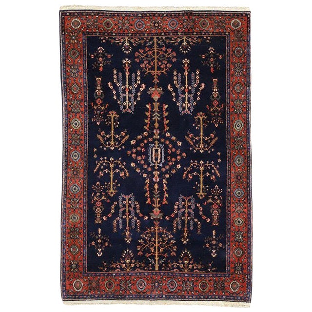 Early 20th Century Antique Persian Sarouk Rug - 4′3″ × 6′5″ For Sale