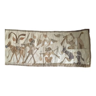 1960s Vintage Egyption Applique Tapestry For Sale