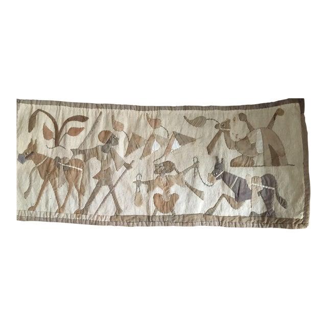 1960s Vintage Egyption Applique Tapestry