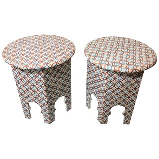 Moroccan Style Lamp Tables - a Pair For Sale
