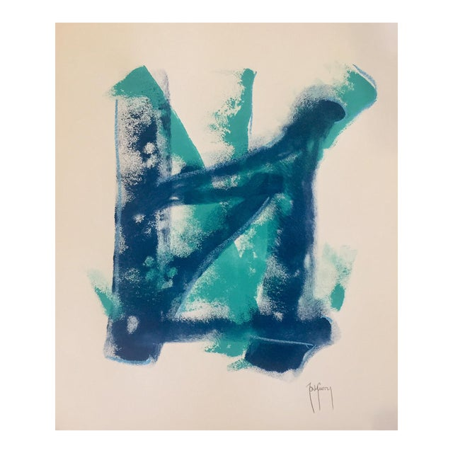 Original Modern Art Blue Painting by Tony Curry - Image 1 of 3