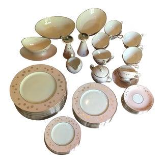 Lenox Mid-Century Modern Pink & Gold Starburst Dinnerware