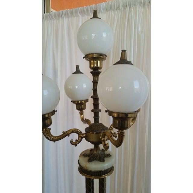 Mid-Century Saloon Bar Globe Floor Lamp - Image 5 of 11