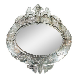 1940s French Venetian Style Mirror For Sale