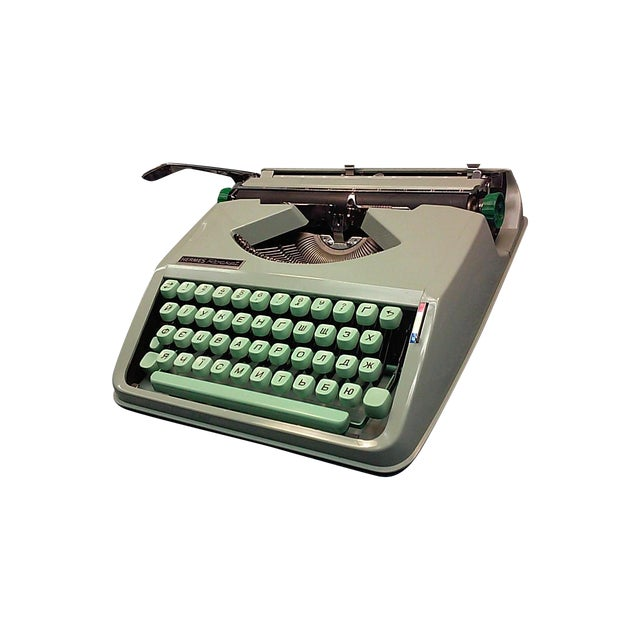 1968 Hermes Rocket with a Russian Ukraine Keyboard - Image 1 of 8