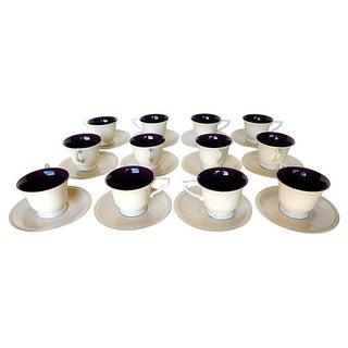 Mid-Century Montecito DuoTone Tea Cups - Service for 12 For Sale