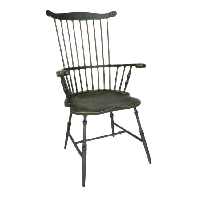 Fanback Armchair Outdoor Chair in Harvest For Sale