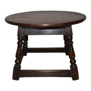 English Round Side Table/Stool For Sale