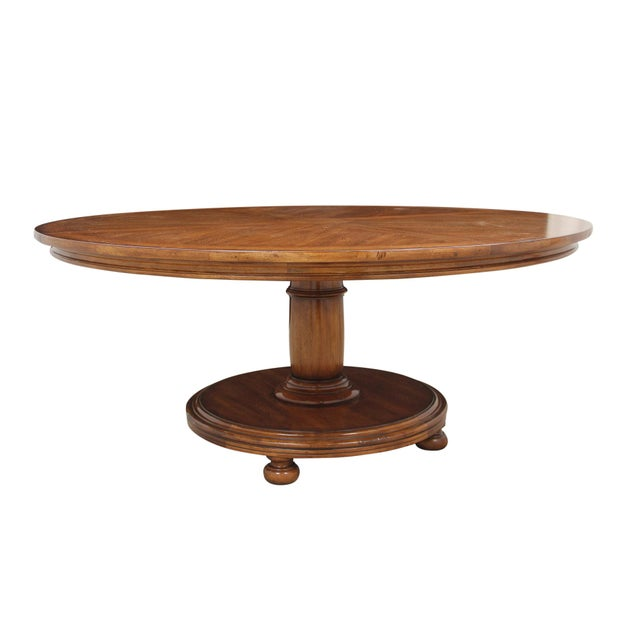 Round Century Furniture Dining Table For Sale In Tampa - Image 6 of 9