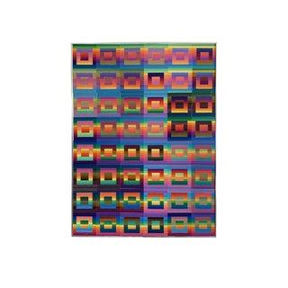 Vintage Paper Serigraph Rainbow Op Art For Sale