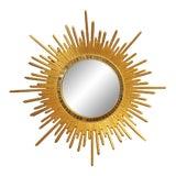 Image of Italian Neoclassic Style Gilt Wood Sunburst Wall Mirror For Sale