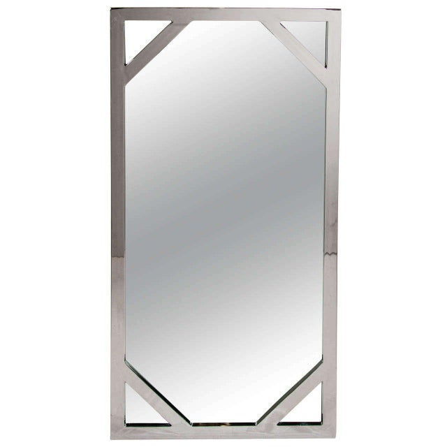1970s Hollywood Regency Chromed Chippendale Mirror by Milo Baughman For Sale - Image 10 of 10