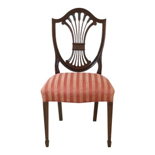 Stickley Shield Back Mahogany Side Chair For Sale