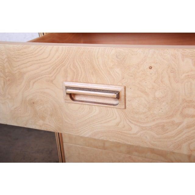 Brown Burl Wood Long Dresser Credenza by Henredon For Sale - Image 8 of 13
