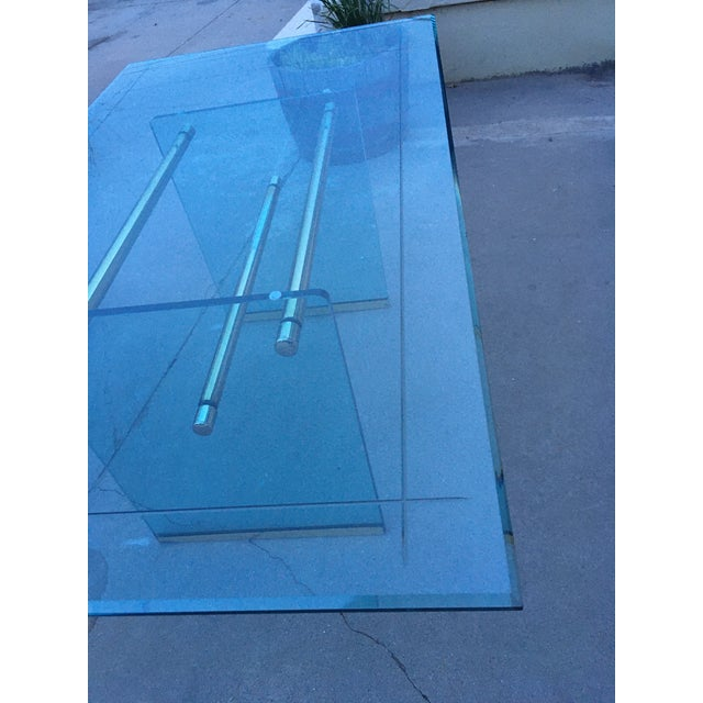 Glass and Brass Mid-Century Modern Dining Table by Pace For Sale - Image 12 of 13