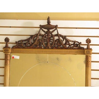 Adam Style Carved Wood Framed Etched Mirror Preview
