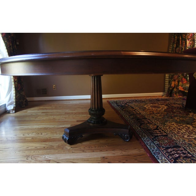 Hickory Chair Mahogany Dining Table - Image 4 of 6