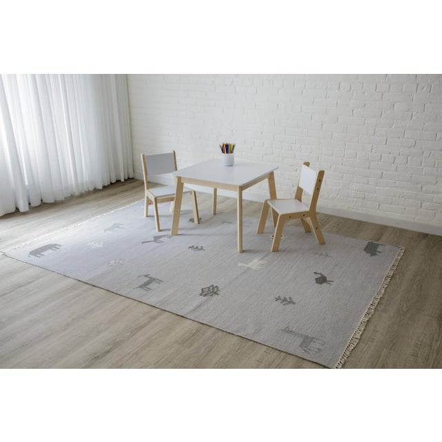 Textile Erin Gates by Momeni Thompson Porter Grey Hand Woven Wool Area Rug - 7′6″ × 9′6″ For Sale - Image 7 of 9