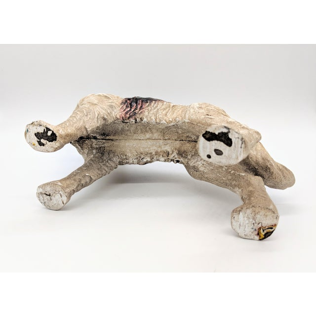 White 20th Century Figurative Cast Iron Red and White English Springer Spaniel Doorstop For Sale - Image 8 of 9