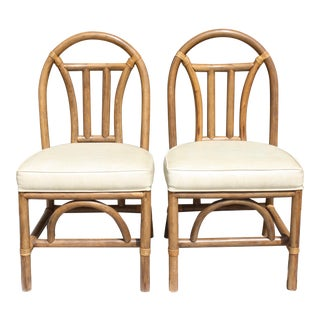 Mid-Century Modern Bentwood Rattan Chairs - A Pair For Sale