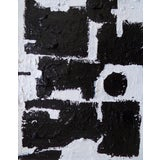 Image of Abstract Contemporary Black and White Original Painting For Sale