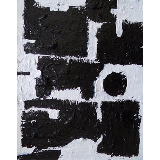 Abstract Contemporary Black and White Original Painting For Sale
