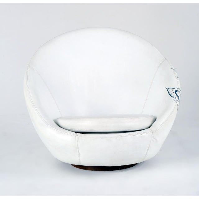 Milo Baughman Thayer Coggin Swivel Egg Chair For Sale - Image 9 of 13
