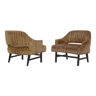 Pair of Compact Lounge Chairs by Harvey Probber For Sale