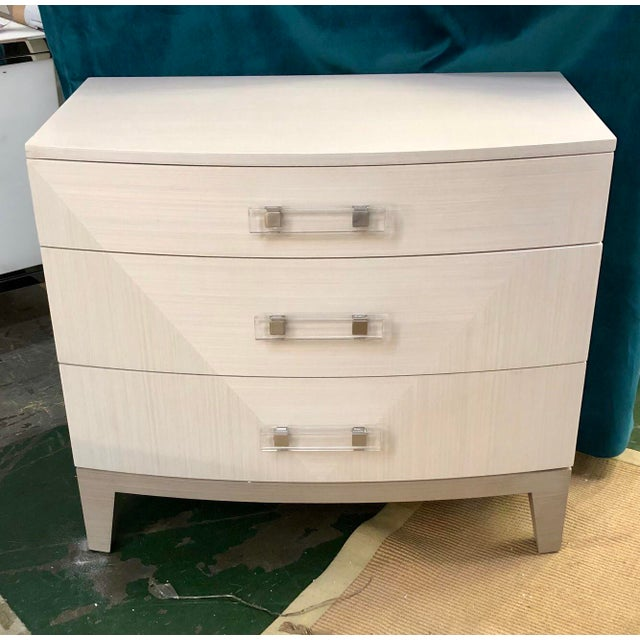 2000 - 2009 Contemporary White Dresser Nightstand For Sale - Image 5 of 5