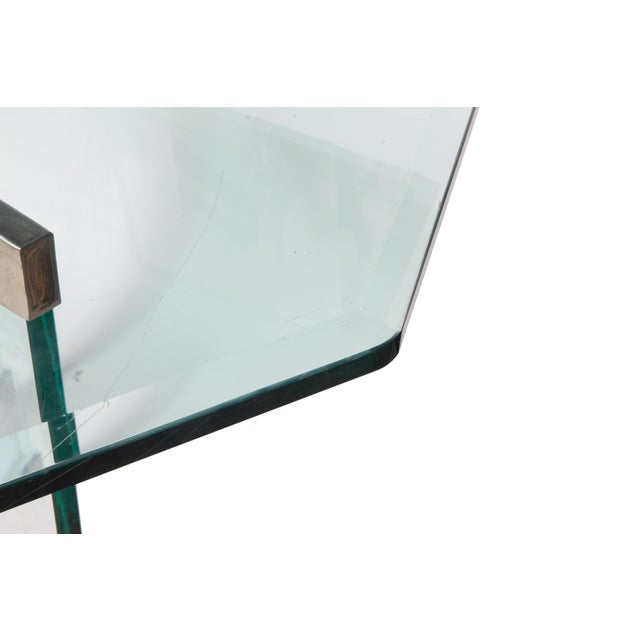Mid 20th Century Leon Rosen Classic Design Chrome Base Dining Table for Pace Collection For Sale - Image 5 of 11