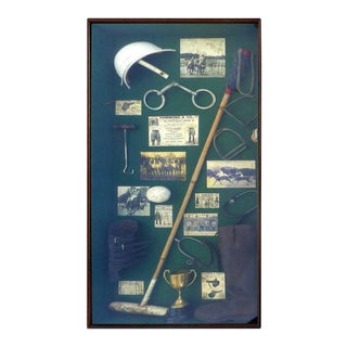 20th Century Large Vintage Polo Memorabilia Shadow Box