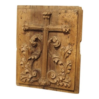 Small Carved Fruitwood Tabernacle Panel From France, Circa 1700 For Sale