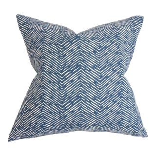 Edythe Blue Zigzag Pillow For Sale