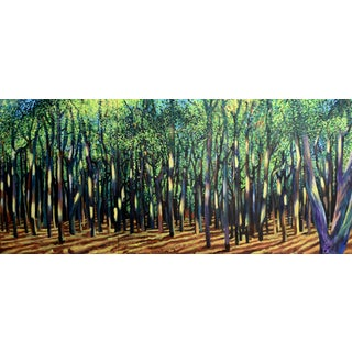 Large Forest Afternoon Triptych - Geoff Greene Painting (Ready for Display) For Sale