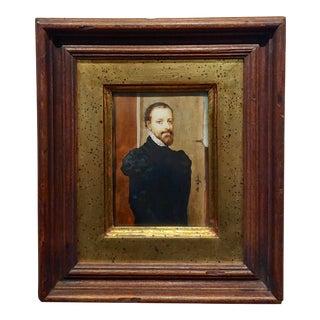 "Ida Calzolari ""Portrait of a 16th Century Spanish Aristocratic Man"" Painting For Sale"