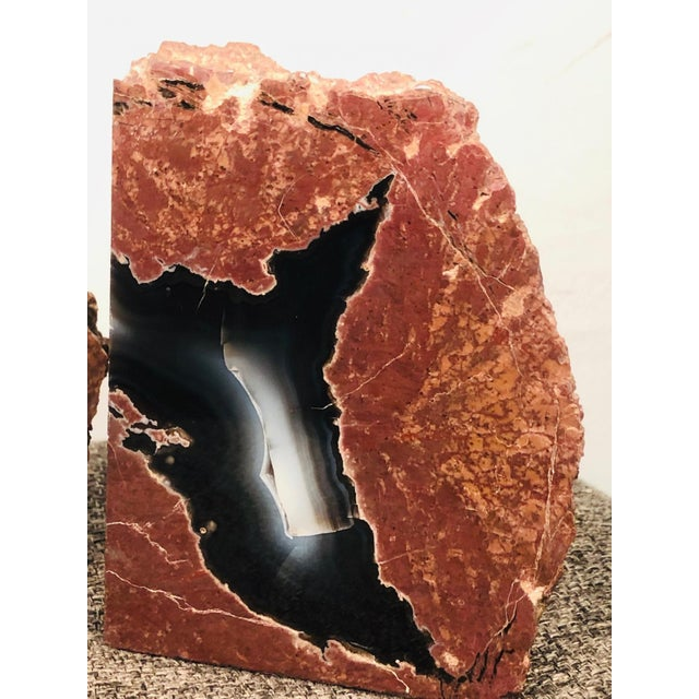 Mid 20th Century Petrified Wood Geode Book Ends - a Pair For Sale - Image 4 of 8