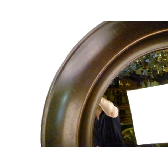 Mid-Century Modern Large Round Mid-Century Brass Mirror For Sale - Image 3 of 9