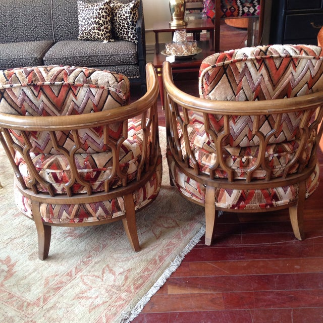Vintage Barrel Back Club Chairs - A Pair - Image 8 of 11