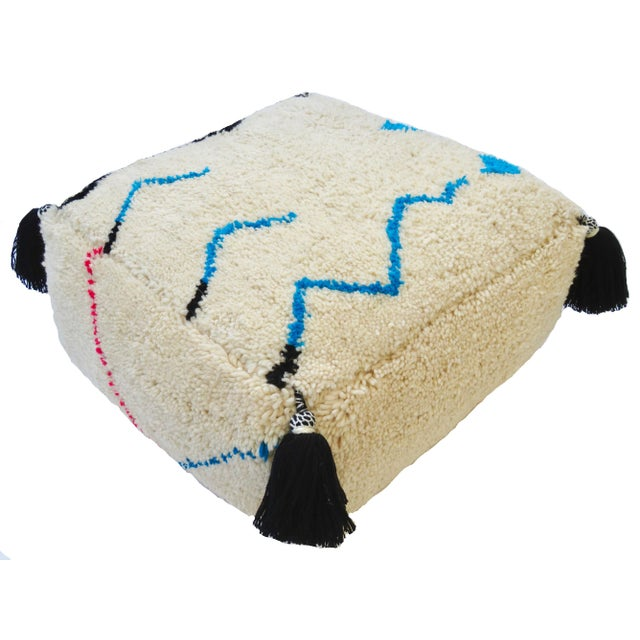 2000 - 2009 Oversized Moroccan Floor Pouf For Sale - Image 5 of 7