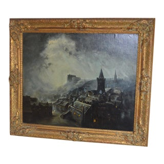 Late 19th Century Antique Octavius Thomas Clark Oil Painting For Sale