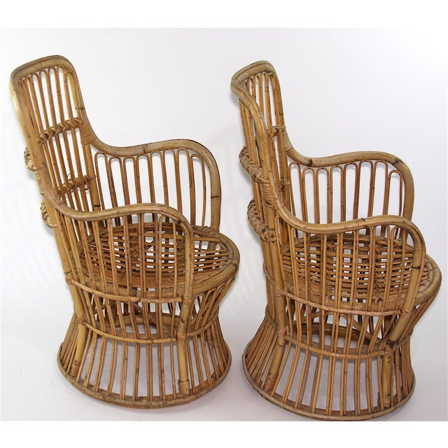 Franco Albini Style Rattan Chairs - A Pair - Image 4 of 11