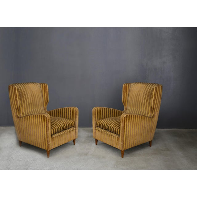 1950s Pair of Armchairs Melchiorre Bega for Grand Hotel Milano 1950 For Sale - Image 5 of 5