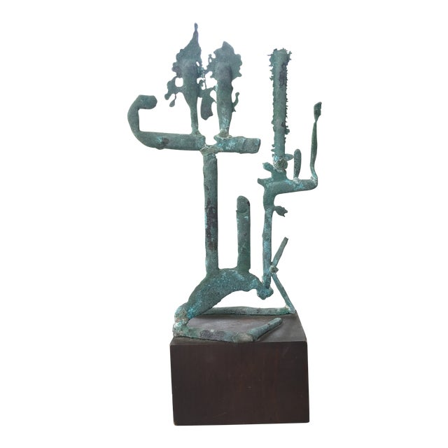 Mid Century Modern Metal Sculpture For Sale