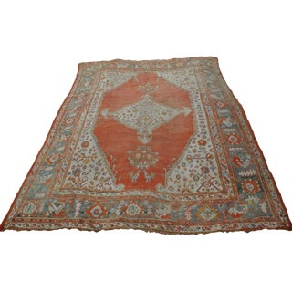 19th Century Smyrna Oushak - 11′9″ × 14′3″ For Sale