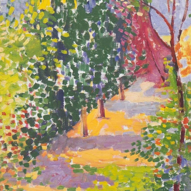 Impressionism d.k. Aliev Evening Landscape 1990 For Sale - Image 3 of 8
