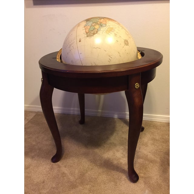 "George F. Cram Co. Floor Model Classic 16"" World Globe with Wooden Stand - Image 2 of 5"
