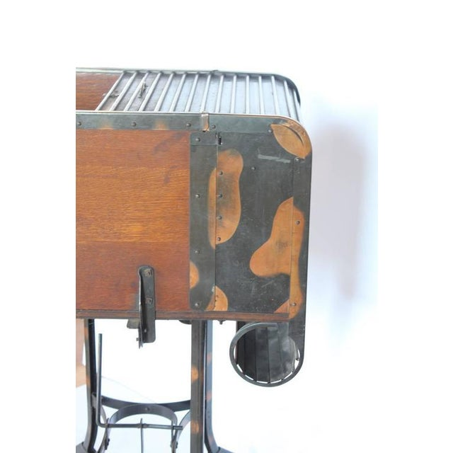 Early 20th C. Vintage Toledo Industrial Roll Top Bar Cart For Sale In Greensboro - Image 6 of 6